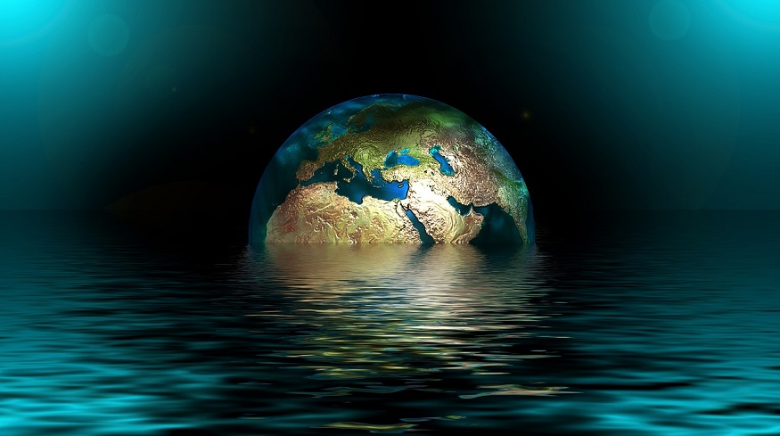 Global warming trends - Earth in water