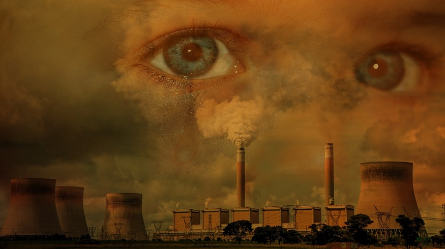 Climate change concerns - fossil fuels - eyes in the sky