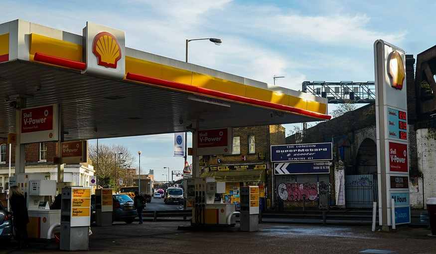 Hydrogen fuel prices - Shell Gas Station