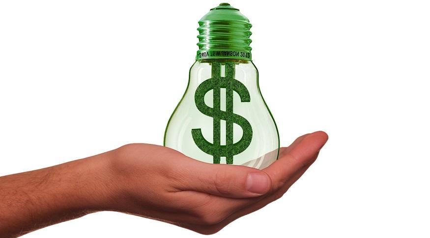 Renewable tariff - light bulb - dollar sign