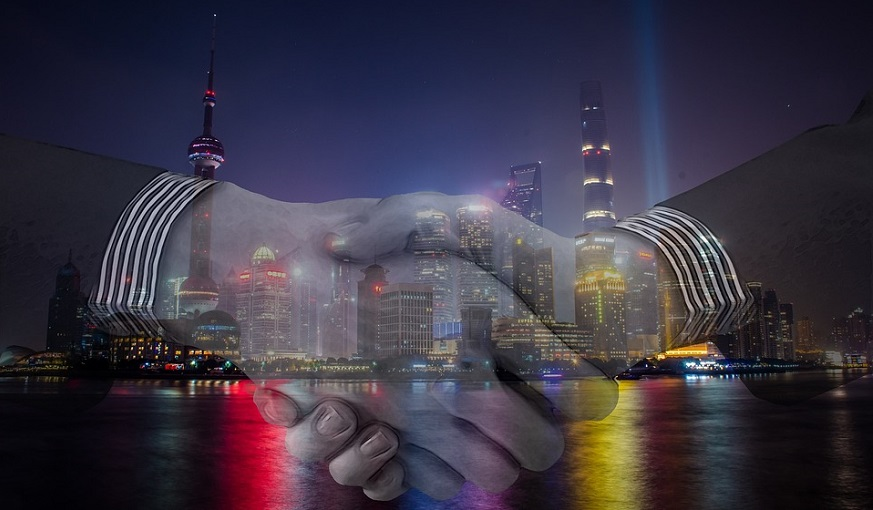 Hydrogen production project - handshake - business - shanghai