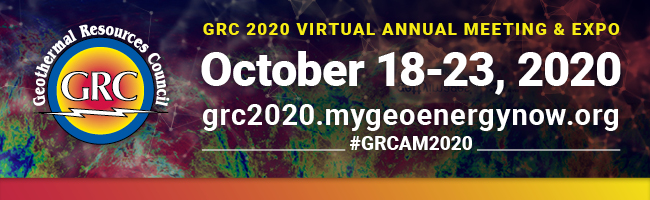 Geothermal Resources Council Announces  Virtual Annual Meeting & Expo!