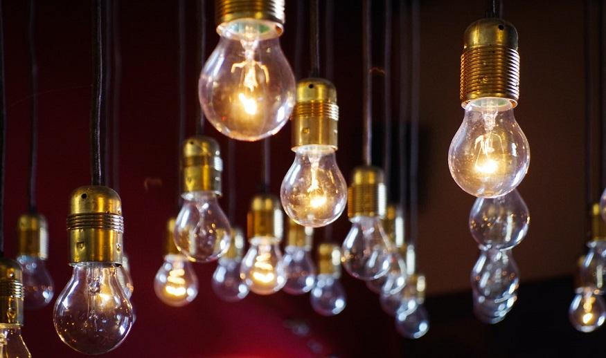 Hydrogen fuel cell system - light bulbs