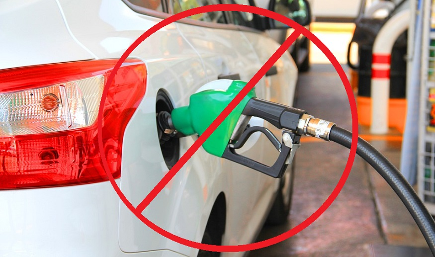 Gas-powered car ban - refuelling car