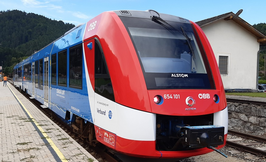 Alstom hydrogen passenger train starts regular service in Austria