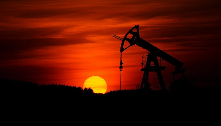 Oil demand - Oil field at sunset