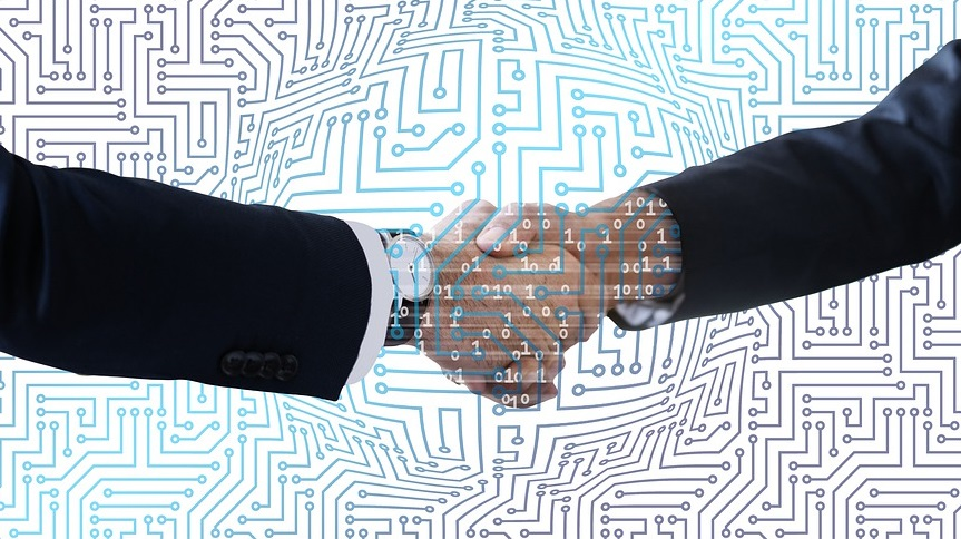 Hydrogen technology collaboration - business - handshake
