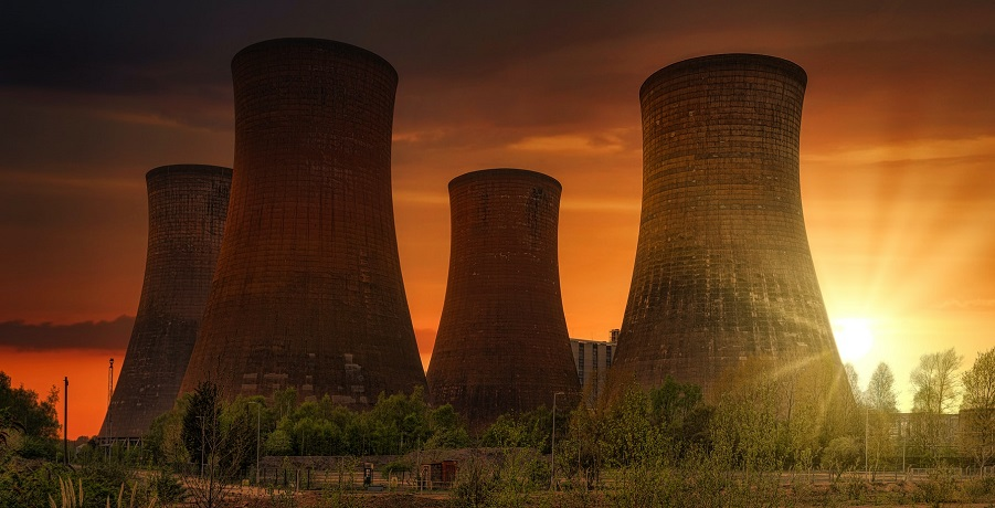 Fusion Fuel Spain - power plant at sunset