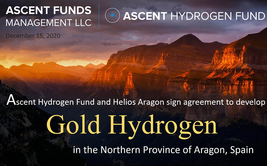 Ascent Hydrogen Fund signs new deal with Spain's Helios Aragon to explore and produce 'Gold Hydrogen'