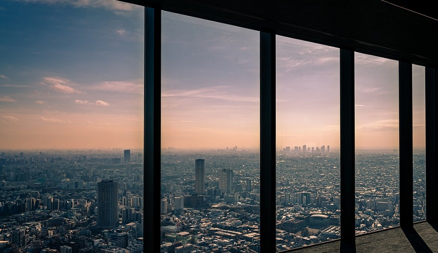Cell Impact - View of Tokyo from inside a building
