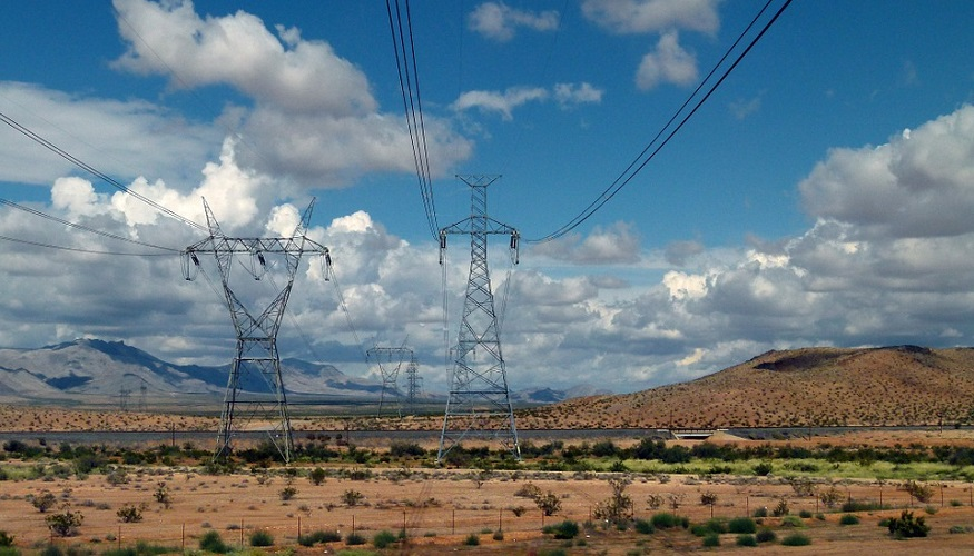 Cheap hydrogen production - power poles and lines in Arizona