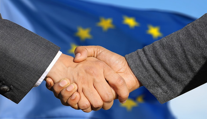 European hydrogen projects - business handshake