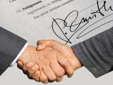 Hydrogen fuel research and development - Partnership - handshake - signature