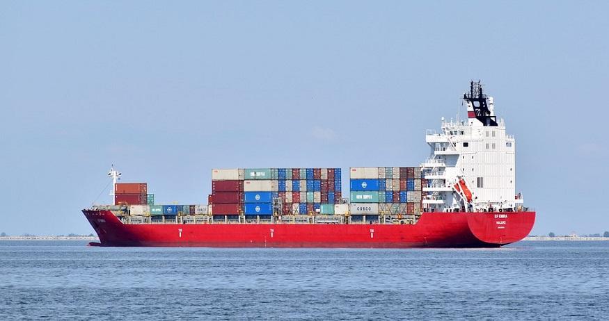 C-H2 Ship - Image of Cargo Ship at Sea