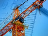 Hydrogen fuel production plant - Construction crane - building plans -