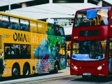 Hydrogen powered double decker bus - image of double decker buses