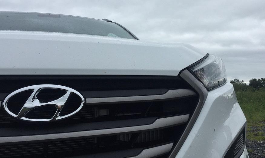 Hydrogen car fleet - Hyundai logo on vehicle