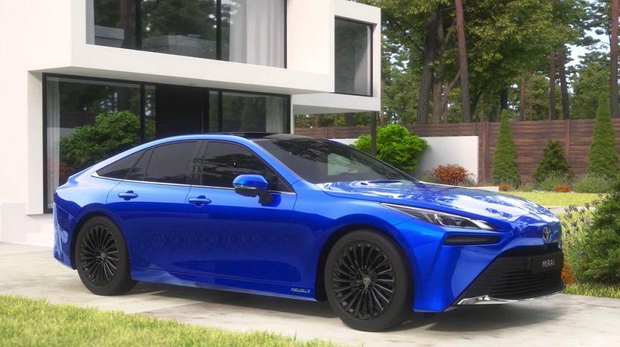 Toyota Mirai hydrogen fuel car drives onto Californian roads for the first time