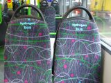 Wrightbus hydrogen buses - Image of hydrogen fuel bus seats - H2 bus interior