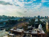 green hydrogen - skyline of Mumbai from a distance