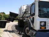 Fuel cell garbage trucks - Image of garbage truck