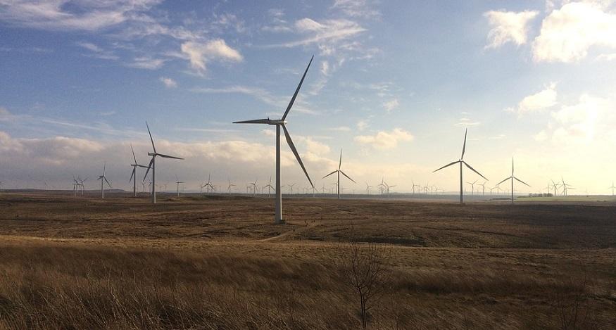 Green Hydrogen Electrolyzer - wind farm Whitelee, Scotland