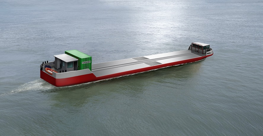 First ever hydrogen cargo vessel to begin operating on the Seine
