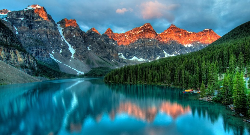 Hydrogen fuel cell adoption - Image of Lake Louise in Alberta, Canada - Western Canada