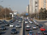 Hydrogen fuel cell cars - Cars on road in Beijing