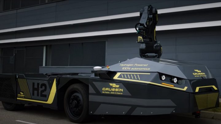 Gaussin unveils autonomous tractor with hydrogen fuel cell engine