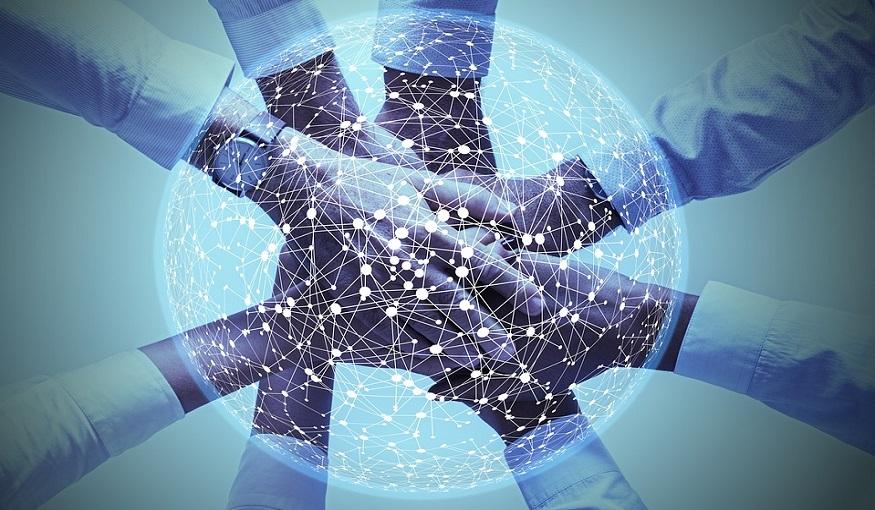 Hydrogen production - Hands together