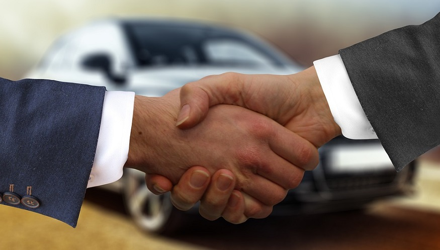 Hydrogen vehicle deployment - Handshake - agreement - car