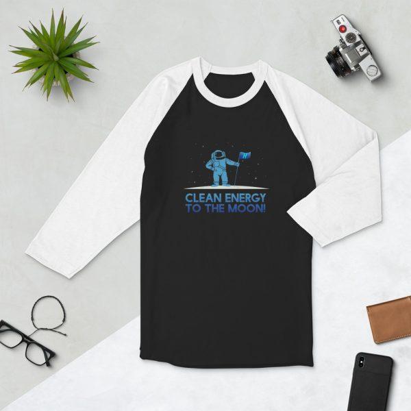Astronaut Clean Energy 3/4 sleeve raglan shirt 2