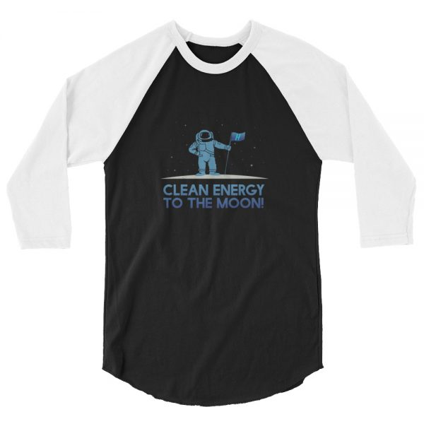 Astronaut Clean Energy 3/4 sleeve raglan shirt 5