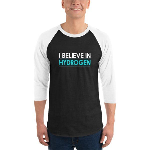 I Believe In Hydrogen Jersey 3/4 sleeve raglan shirt 6