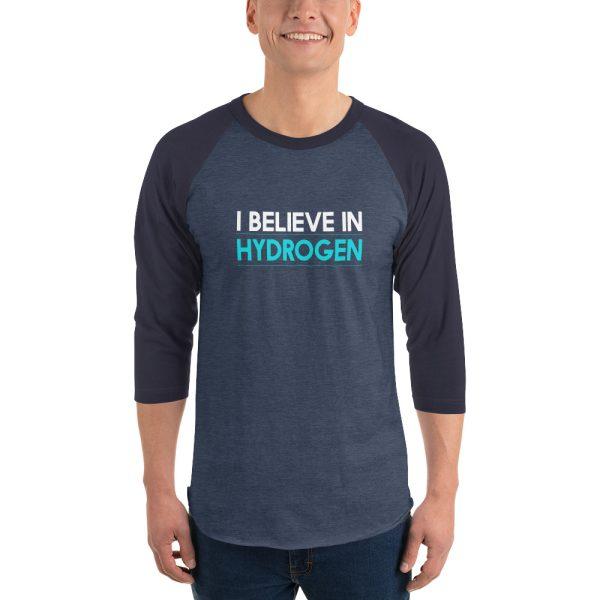 I Believe In Hydrogen Jersey 3/4 sleeve raglan shirt 7