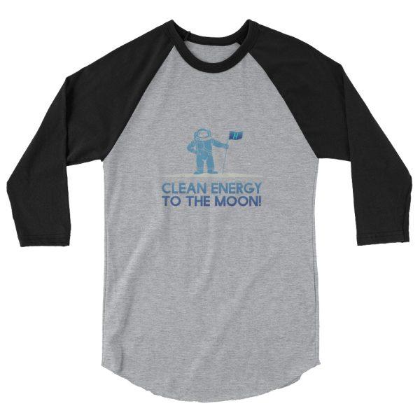 Astronaut Clean Energy 3/4 sleeve raglan shirt 6
