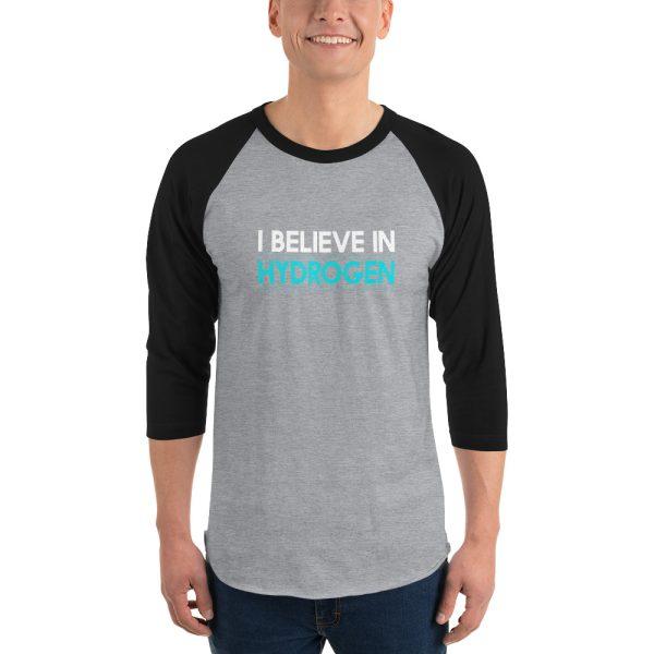 I Believe In Hydrogen Jersey 3/4 sleeve raglan shirt 8