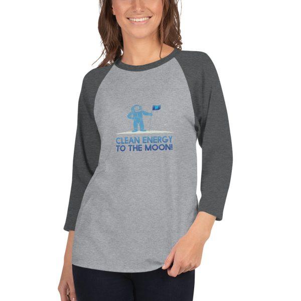 Astronaut Clean Energy 3/4 sleeve raglan shirt 4