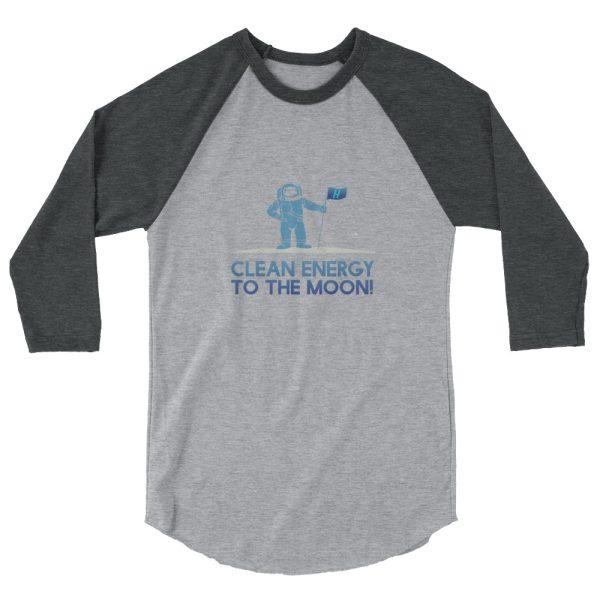 Astronaut Clean Energy 3/4 sleeve raglan shirt 8