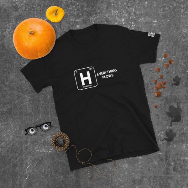 Hydrogen Everything Flows Short-Sleeve Unisex T-Shirt 36