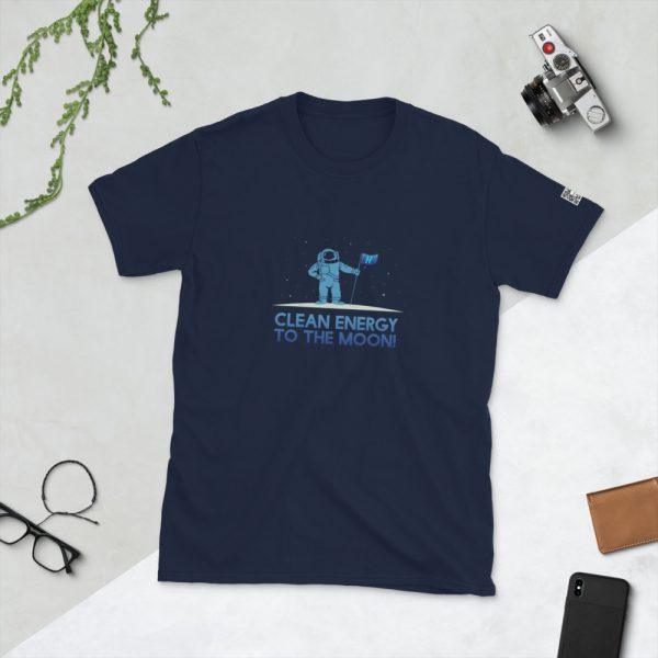 Clean Energy To The Moon Short-Sleeve Unisex T-Shirt 3