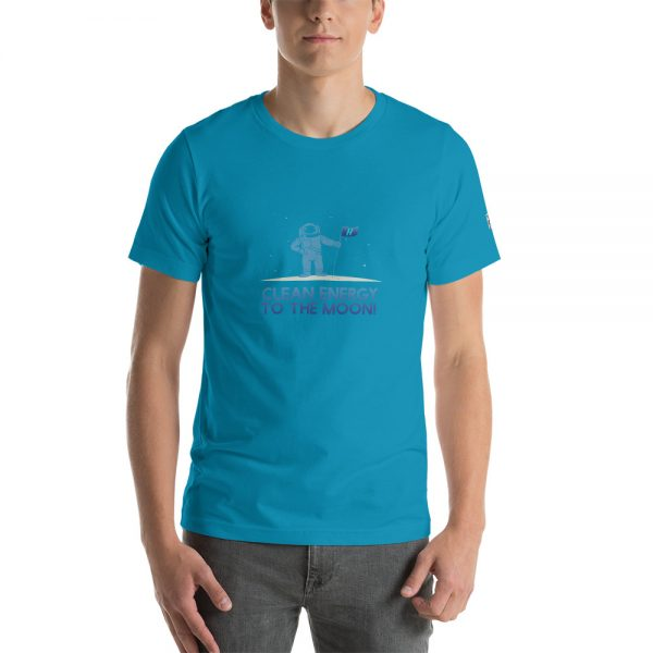 Clean Energy to the Moon Short Sleeve T-Shirt - Multiple Color Options 76