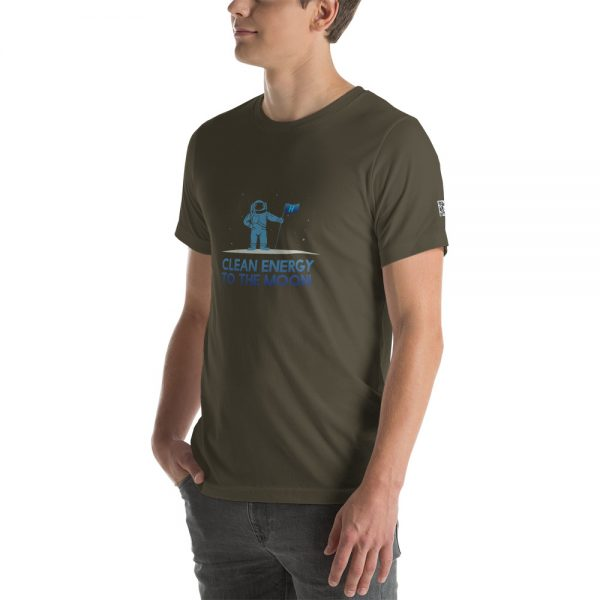 Clean Energy to the Moon Short Sleeve T-Shirt - Multiple Color Options 7