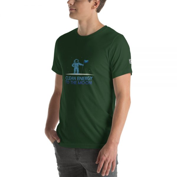 Clean Energy to the Moon Short Sleeve T-Shirt - Multiple Color Options 3
