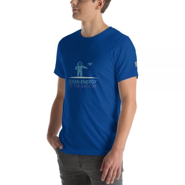 Clean Energy to the Moon Short Sleeve T-Shirt - Multiple Color Options 5