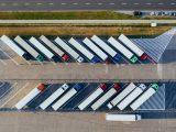 Fuel cell truck market - parked trucks