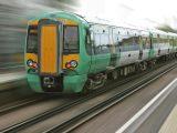 Hydrogen train technology - train moving fast