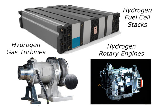Kontak hydrogen and electric aircraft engine