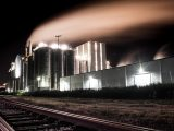 Power-to-Gas plant - Image of energy plant at night